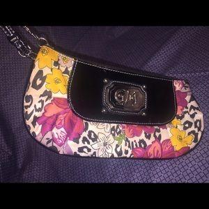 Gia Milani's Wristlet; Floral Purse, Black Trim